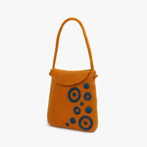 KONST001 bolso fieltro mujer lana escultura felt bag