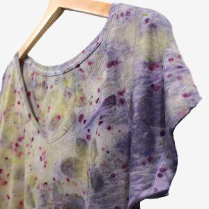 camiseta ecoprint tintes naturales