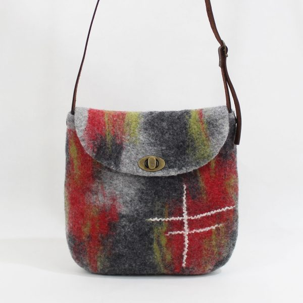 bolso fieltro lana hechoamano felt bag sostenible