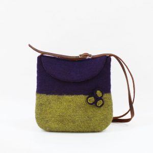 bolso lana fieltro hadmade felted bag bolsos mujer