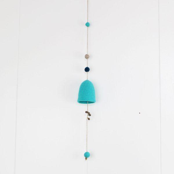 movil bell accesorio decoracion hogar fieltro lana sostenible cañamo wool felt