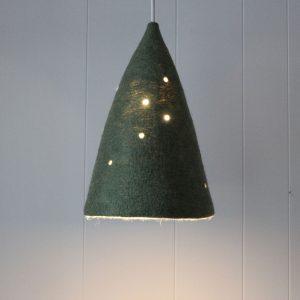 lámpara lampshade lamp pantalla iluminación hogar sostenible lana fieltro hecho a mano interiorismo