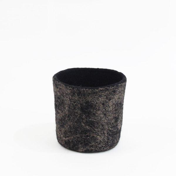decoracion sostenible cuencos contenedores lana fieltro hecho a mano hogar eco